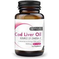 Vega Cod Liver Oil 1000mg Extra High Strength Capsules 60