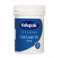Valupak Vitamins Cod Liver Oil 400mg 30 Capsules