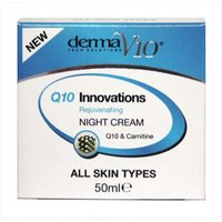Derma V10 innovations Q10 rejuvenating night cream 50ml