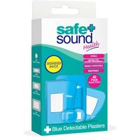 Safe and Sound Blue Detactable Plaster 40 Pack Assorted Sizes