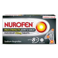 Nurofen Max Strength Joint and Back Pain Relief 512mg 24 Tablets.