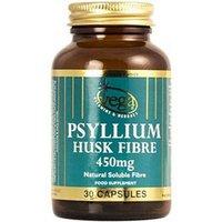 Vega Psyllium Husk Fibre 450mg 30 Capsules