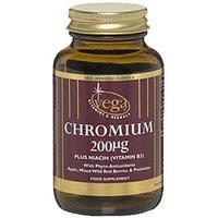 Vega Chromium 200µg With Vitamin B3 60 Capsules.