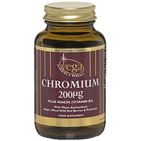 Vega Chromium 200µg With Vitamin B3 30 Capsules
