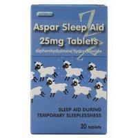 Aspar Sleep Aid 25mg Tablets 20 tablets
