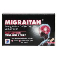 Migraitan 50mg Film Coated Tablets - 2 Tablets.