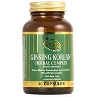 Vega Ginseng Korean Herbal Complex High Strength 30 Capsules