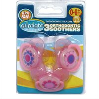 Griptight 3 Orthodontic Soothers 0-6+ months