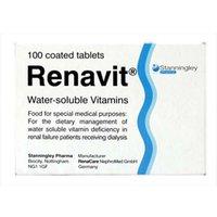 Renavit Water-Soluble Vitamins - 100 Coated Tablets