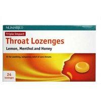 Numark Triple Impact Throat Lozenges 24