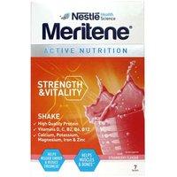 Meritene Strength & Vitality Strawberry Shake 7 sachets