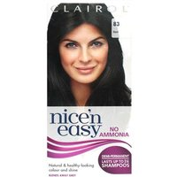 Clairol Nice n Easy Non-Permanent Hair Colour Up To 24 Washes 83 Black