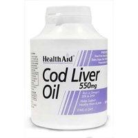 Health Aid Cod Liver Oil 550mg 180 Capsules