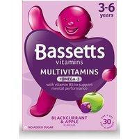 Bassetts Multivitamins + Omega-3 3-6 Years 30 Chewies