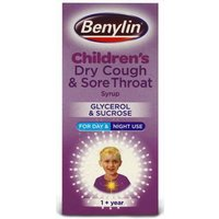 Benylin Childrens Dry Cough & Sore Throat Syrup Glycerol & Sucrose 125ml