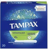Tampax Cardboard Applicator Super Tampons 20