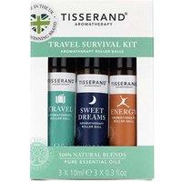 Tisserand Travel Survival Kit Aromatherapy Roller Balls 3x10ml
