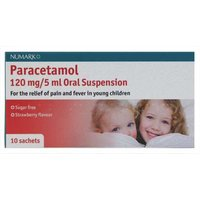 Numark Paracetamol 120mg/5ml Oral Suspension10 sachets