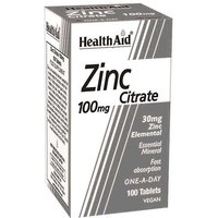 Health Aid Zinc Citrate 100mg 100 Tablets