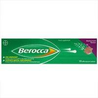 Berocca Food Supplement Blackcurrant Flavour 15 Tablets