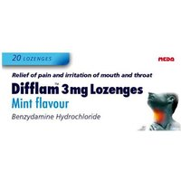 Image of Difflam 3mg Lozenges Mint Flavour 20