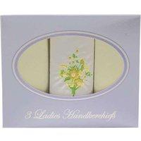 3 x Ladies Cotton Handkerchiefs Lemon