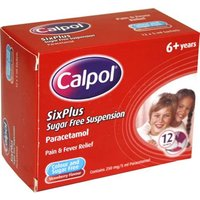 Calpol Six Plus Sugar Free Suspension Sachets 12 x 5ml