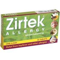 Zirtek Allergy Tablets 10mg (30)