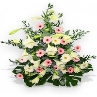 White and Pink Flower Sympathy Basket