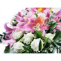 White Roses and Lilies Spray