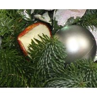 Silver Baubles and Dried Fruit Christmas Wreath