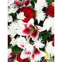 Roses, Chrysanthemum and Lilies Funeral Spray