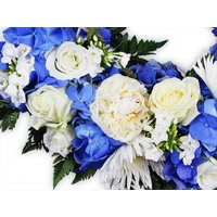 White and Blue Flowers Wreath