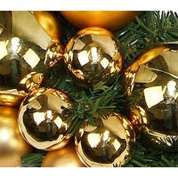 Golden Baubles Christmas Wreath