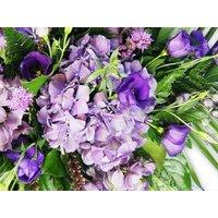 Purple Flowers Sheath