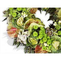 Green Flowers Wreath
