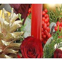 Traditional Christmas Flower Arrangement