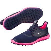Puma IGNITE Spikeless Sport Womens Golf Shoes - Peacoat / Puma Silver / Knockout Pink UK 5.5