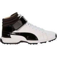 Puma TITANTOUR IGNITE Hi-Top Junior Golf Shoes - Black / White UK 1