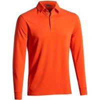 Mizuno Breath Thermo Long Sleeve Polo Shirt - Orange