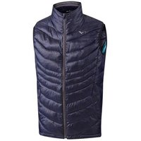 Mizuno Breath Thermo Full Zip Gilet - Peacoat Small