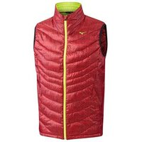 Mizuno Breath Thermo Full Zip Gilet - Chilli Pepper Small