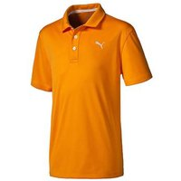 Puma Essential Pounce Junior Polo Vibrant Orange Medium