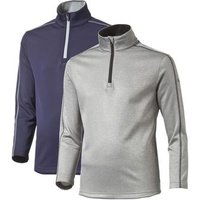 Puma Core Fleece 1/4 Zip Junior Golf Tops - Grey Heather Small (Age 7-8)