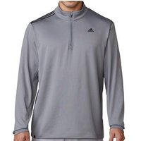 3-stripes French Terry Sweatshirt - Vista Grey Mens Small Vista Grey