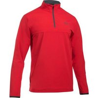 Under Armour Windstrike 1/2 Zip Playing Top Small - Red