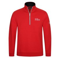 Oscar Jacobson Bradley Half Zip Sweater - Red Small
