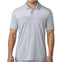 Climachill Heather Block Competition Polo Shirt Mens Small Mid Grey