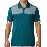 Climachill Heather Block Competition Polo Shirt - Rich Green Mens Small Rich Green