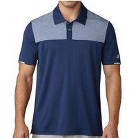 Climachill Heather Block Competition Polo Shirt - Slate Grey Mens Small Slate Grey